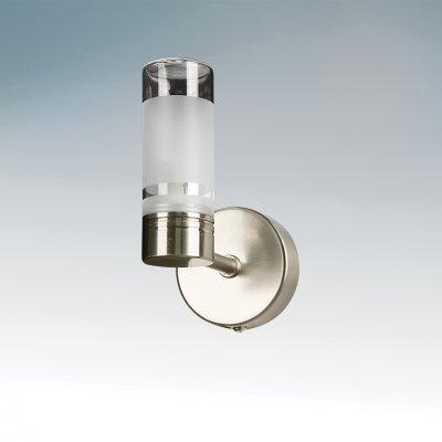 Lightstar WL401 730115 Светильник настенный браДля ванной<br><br><br>S освещ. до, м2: 1<br>Тип лампы: галогенная / LED-светодиодная<br>Тип цоколя: G9<br>Количество ламп: 1<br>MAX мощность ламп, Вт: 25<br>Размеры: L110 H140 W68<br>Цвет арматуры: серый