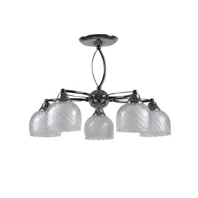 Люстра Colosseo 73016/5C optimaПотолочные<br><br><br>S освещ. до, м2: 15<br>Тип лампы: накаливания / энергосбережения / LED-светодиодная<br>Тип цоколя: E27<br>Цвет арматуры: серебристый<br>Количество ламп: 5<br>Диаметр, мм мм: 540<br>Высота, мм: 395<br>MAX мощность ламп, Вт: 60