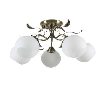 Люстра Colosseo 73021/5C optimaПотолочные<br><br><br>S освещ. до, м2: 15<br>Тип лампы: накаливания / энергосбережения / LED-светодиодная<br>Тип цоколя: E27<br>Цвет арматуры: бронзовый<br>Количество ламп: 5<br>Диаметр, мм мм: 600<br>Высота, мм: 270<br>MAX мощность ламп, Вт: 60
