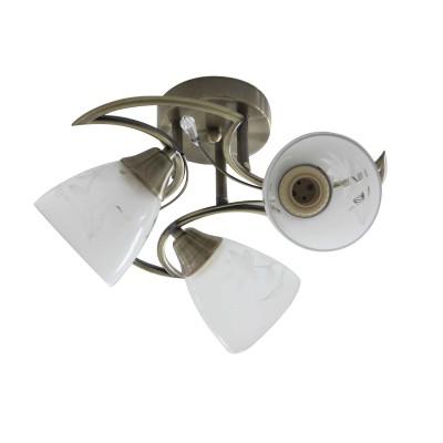 Светильник Colosseo 73024/3Cсовременные потолочные люстры модерн<br><br><br>Тип лампы: Накаливания / энергосбережения / светодиодная<br>Тип цоколя: E27<br>Цвет арматуры: бронзовый<br>Количество ламп: 3<br>Диаметр, мм мм: 410<br>Высота полная, мм: 250<br>Высота, мм: 250<br>Поверхность арматуры: матовая<br>Оттенок (цвет): бронза<br>MAX мощность ламп, Вт: 60