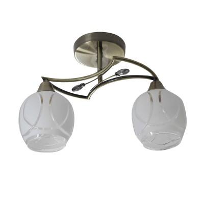 Светильник Colosseo 73025/2Cсовременные потолочные люстры модерн<br><br><br>Тип лампы: Накаливания / энергосбережения / светодиодная<br>Тип цоколя: E27<br>Цвет арматуры: бронзовый<br>Количество ламп: 2<br>Ширина, мм: 190<br>Высота полная, мм: 270<br>Длина, мм: 400<br>Высота, мм: 270<br>Поверхность арматуры: матовая<br>Оттенок (цвет): бронза<br>MAX мощность ламп, Вт: 60