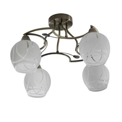 Светильник Colosseo 73025/4Cсовременные потолочные люстры модерн<br><br><br>Тип лампы: Накаливания / энергосбережения / светодиодная<br>Тип цоколя: E27<br>Цвет арматуры: бронзовый<br>Количество ламп: 4<br>Диаметр, мм мм: 490<br>Высота полная, мм: 290<br>Высота, мм: 290<br>Поверхность арматуры: матовая<br>Оттенок (цвет): бронза<br>MAX мощность ламп, Вт: 60