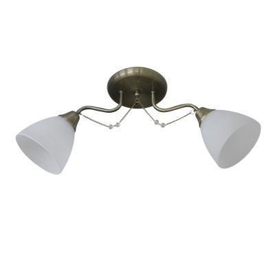 Светильник Colosseo 73030/2Cсовременные потолочные люстры модерн<br><br><br>Тип лампы: Накаливания / энергосбережения / светодиодная<br>Тип цоколя: E27<br>Цвет арматуры: бронзовый<br>Количество ламп: 2<br>Ширина, мм: 150<br>Высота полная, мм: 245<br>Длина, мм: 580<br>Высота, мм: 245<br>Поверхность арматуры: матовая<br>Оттенок (цвет): бронза<br>MAX мощность ламп, Вт: 60