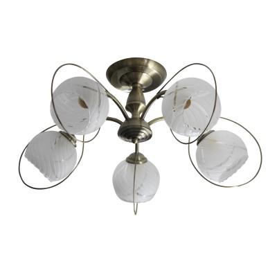 Светильник Colosseo 73031/5Cсовременные потолочные люстры модерн<br><br><br>Тип лампы: Накаливания / энергосбережения / светодиодная<br>Тип цоколя: E27<br>Цвет арматуры: бронзовый<br>Количество ламп: 5<br>Диаметр, мм мм: 590<br>Высота полная, мм: 285<br>Высота, мм: 285<br>Поверхность арматуры: матовая<br>Оттенок (цвет): бронза<br>MAX мощность ламп, Вт: 60<br>Общая мощность, Вт: 300