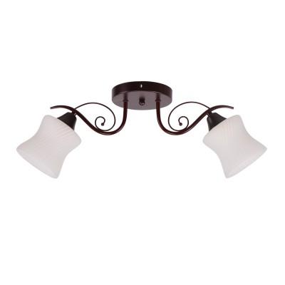 Светильник Colosseo 73044/2Cсовременные потолочные люстры модерн<br><br><br>Тип лампы: Накаливания / энергосбережения / светодиодная<br>Тип цоколя: E27<br>Цвет арматуры: Темные тона<br>Количество ламп: 2<br>Диаметр, мм мм: 600<br>Высота полная, мм: 210<br>Высота, мм: 210<br>Поверхность арматуры: матовая<br>Оттенок (цвет): коричневый<br>MAX мощность ламп, Вт: 60<br>Общая мощность, Вт: 120