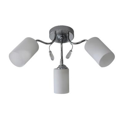 Светильник Colosseo 73045/3Cсовременные потолочные люстры модерн<br><br><br>Тип лампы: Накаливания / энергосбережения / светодиодная<br>Тип цоколя: E27<br>Цвет арматуры: серебристый хром<br>Количество ламп: 3<br>Диаметр, мм мм: 560<br>Высота полная, мм: 320<br>Высота, мм: 320<br>Поверхность арматуры: блестящая<br>Оттенок (цвет): серебристый<br>MAX мощность ламп, Вт: 60<br>Общая мощность, Вт: 180