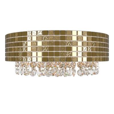 Lightstar BEZAZZ 743622 Светильник настенный браХрустальные<br><br><br>Тип лампы: галогенная/LED<br>Тип цоколя: G9<br>Количество ламп: 2<br>Ширина, мм: 380<br>MAX мощность ламп, Вт: 40<br>Расстояние от стены, мм: 170<br>Высота, мм: 140<br>Цвет арматуры: Золотой