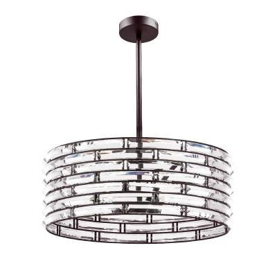 Люстра Lightstar 746068хрустальные потолочные люстры<br>Коллекция светильников Amerigo, словно бриллиантовой колье, обвивает лампу дневного спектра. Ее свет преломляется в гранях вставок из муранского стекла и создает эффект блестящей поверхности. В любое время суток светильники этой коллекции выглядят дорого и роскошно, как прилавок ювелирного салона.<br><br>S освещ. до, м2: 12<br>Тип лампы: Накаливания / энергосбережения / светодиодная<br>Тип цоколя: E14<br>Цвет арматуры: коричневый<br>Количество ламп: 6<br>Диаметр, мм мм: 505<br>Высота, мм: 202<br>MAX мощность ламп, Вт: 40