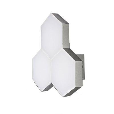 Lightstar FAVO 750634 Светильник настенный браХай-тек<br><br><br>Тип цоколя: LED<br>MAX мощность ламп, Вт: 15<br>Размеры: отступ<br>Цвет арматуры: серебристый