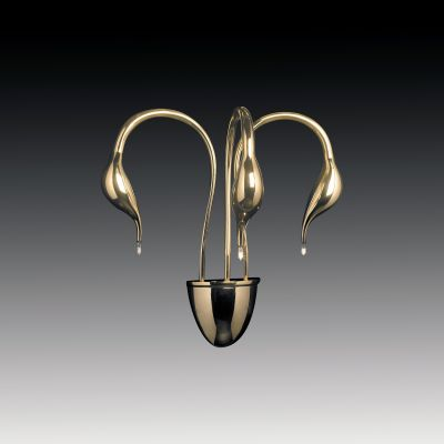 Lightstar Cigno 751632 Светильник настенный браХай-тек<br><br><br>S освещ. до, м2: 12<br>Крепление: настенное<br>Тип лампы: галогенная / LED-светодиодная<br>Тип цоколя: G4<br>Цвет арматуры: золотой<br>Количество ламп: 3<br>Ширина, мм: 420<br>Размеры: H 500 W 420 Выступ 240<br>Высота, мм: 500<br>Оттенок (цвет): белый<br>MAX мощность ламп, Вт: 20