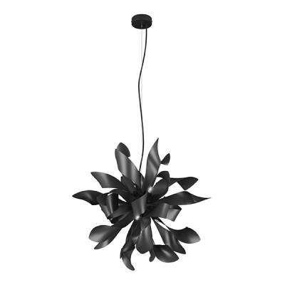 Люстра Lightstar 754267 TURBIOлюстры флористика подвесные<br><br><br>Установка на натяжной потолок: Да<br>S освещ. до, м2: 12<br>Крепление: Планка<br>Тип лампы: галогенная / LED-светодиодная<br>Тип цоколя: G9<br>Цвет арматуры: черный<br>Количество ламп: 6<br>Диаметр, мм мм: 650<br>Высота полная, мм: 1550<br>Высота, мм: 700<br>Поверхность арматуры: матовая<br>Оттенок (цвет): черный<br>MAX мощность ламп, Вт: 40<br>Общая мощность, Вт: 240