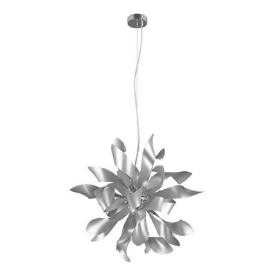 Люстра Lightstar 754269 TURBIOПодвесные<br><br><br>Установка на натяжной потолок: Да<br>S освещ. до, м2: 12<br>Крепление: Планка<br>Тип лампы: галогенная / LED-светодиодная<br>Тип цоколя: G9<br>Цвет арматуры: серебристый<br>Количество ламп: 6<br>Диаметр, мм мм: 650<br>Высота полная, мм: 1550<br>Высота, мм: 700<br>Поверхность арматуры: матовая<br>Оттенок (цвет): серебристый<br>MAX мощность ламп, Вт: 40<br>Общая мощность, Вт: 240