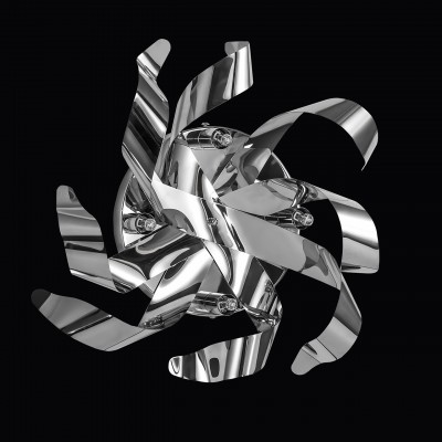 Lightstar TURBIO 754644 Светильник настенный браМодерн<br><br><br>Тип лампы: галогенная/LED<br>Тип цоколя: G9<br>Количество ламп: 4<br>MAX мощность ламп, Вт: 40<br>Диаметр, мм мм: 360<br>Высота, мм: 150<br>Цвет арматуры: серебристый