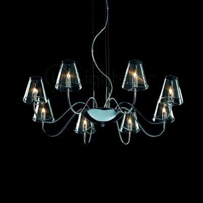 Lightstar DIAFANO 758084 ЛюстраПодвесные<br><br><br>Установка на натяжной потолок: Да<br>S освещ. до, м2: 21<br>Крепление: Планка<br>Тип товара: Люстра<br>Тип лампы: галогенная / LED-светодиодная<br>Тип цоколя: G9<br>Количество ламп: 8<br>MAX мощность ламп, Вт: 40<br>Диаметр, мм мм: 760<br>Размеры: H min-max350-1350 W800<br>Высота, мм: 1350<br>Оттенок (цвет): прозрачный<br>Цвет арматуры: серебристый