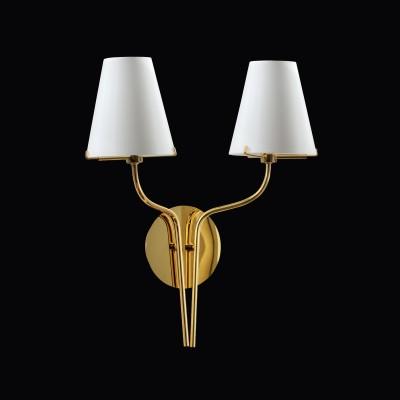 Lightstar DIAFANO 758622 Светильник настенный браСовременные<br><br><br>Тип лампы: галогенная/LED<br>Тип цоколя: G9<br>Количество ламп: 2<br>Ширина, мм: 150<br>MAX мощность ламп, Вт: 40<br>Длина, мм: 280<br>Высота, мм: 380<br>Цвет арматуры: Золотой