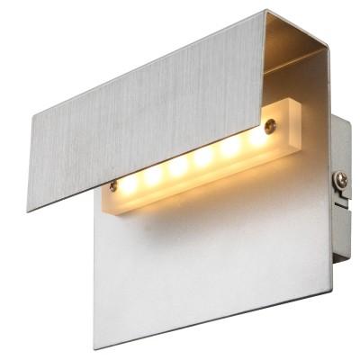Светильник Globo 76010WХай-тек<br><br><br>Цветовая t, К: 3200<br>Тип лампы: LED<br>Тип цоколя: LED<br>Количество ламп: 1<br>Ширина, мм: 65<br>MAX мощность ламп, Вт: 3<br>Длина, мм: 150<br>Высота, мм: 100<br>Цвет арматуры: серебристый
