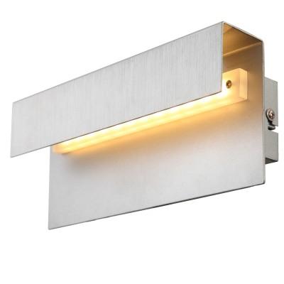 Светильник Globo 76010W1Хай-тек<br><br><br>Цветовая t, К: 3200<br>Тип лампы: LED<br>Тип цоколя: LED<br>Цвет арматуры: серебристый<br>Количество ламп: 1<br>Ширина, мм: 65<br>Длина, мм: 250<br>Высота, мм: 100<br>MAX мощность ламп, Вт: 6