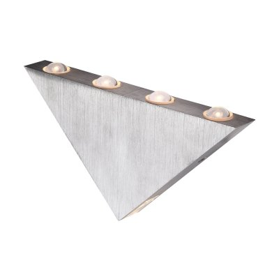 Светильник Globo 7602 GordonДекоративные<br><br><br>S освещ. до, м2: 20<br>Тип товара: Светильник настенный<br>Скидка, %: 21<br>Тип лампы: LED - светодиодная<br>Тип цоколя: LED<br>Количество ламп: 5<br>Ширина, мм: 125<br>MAX мощность ламп, Вт: 1<br>Длина, мм: 235<br>Цвет арматуры: серебристый