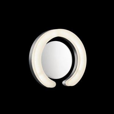 Lightstar UNITARIO 763690 Светильник настенный браХай-тек<br><br><br>Тип цоколя: LED 4000К<br>Количество ламп: 1<br>MAX мощность ламп, Вт: 9,2<br>Размеры: H 70 D 240<br>Оттенок (цвет): белый<br>Цвет арматуры: серебристый