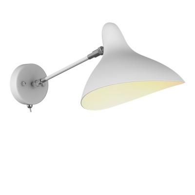 Lightstar MANTI 764606 Светильник настенный браНа штанге<br><br><br>Тип лампы: накаливания / энергосбережения / LED-светодиодная<br>Тип цоколя: E14<br>Количество ламп: 1<br>Ширина, мм: 205<br>MAX мощность ламп, Вт: 40<br>Расстояние от стены, мм: 470<br>Высота, мм: 175<br>Цвет арматуры: белый