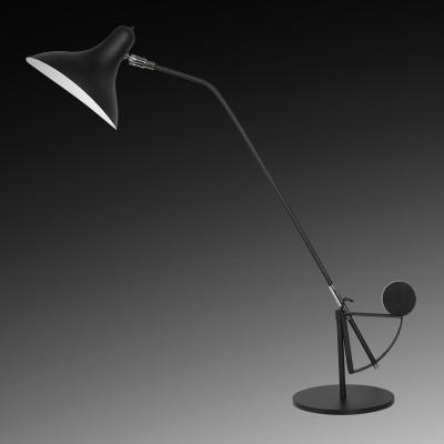 Настольная лампа Lightstar 764907 MANTIНастольные лампы хай тек<br>Настольная лампа Manti  прекрасно подойдет как для офисных помещений, так и для домашнего пользования. Удобная форма плафона направляет свет на рабочую поверхность, не слепя глаза. Цветовая температура подобрана с максимальной пользой для зрения. Это особенно актуально школьникам и тем, кто много работает с документами. Конструкция лампы предусматривает мобильность ножки, благодаря чему без труда можно изменить положение светильника для большего комфорта. <br> Настольная лампа Lightstar 764907 – прекрасный вариант для завершения интерьера. Ее можно включить одновременно с люстрой для более яркого освещения или без нее для создания уютной атмосферы, настраивающей на отдых. <br> Купить настольную лампу Lightstar 764907 Вы можете с помощью виртуальной «Корзины» или по контактным номерам, указанным на сайте.<br><br>Тип цоколя: E14<br>Цвет арматуры: черный<br>Количество ламп: 1<br>MAX мощность ламп, Вт: 40
