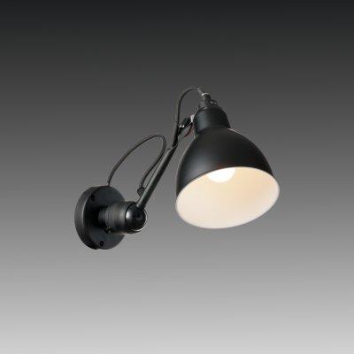 Lightstar LOFT 765607 Светильник настенный браГибкие<br><br><br>S освещ. до, м2: 2<br>Тип цоколя: E14<br>Количество ламп: 1<br>MAX мощность ламп, Вт: 40<br>Размеры: H min-max175-360 W150 отступ<br>Оттенок (цвет): черный<br>Цвет арматуры: черный