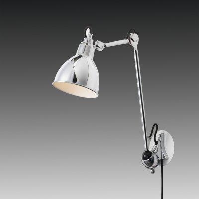 Lightstar LOFT 765614 Светильник настенный браГибкие<br><br><br>S освещ. до, м2: 2<br>Тип цоколя: E14<br>Количество ламп: 1<br>MAX мощность ламп, Вт: 40<br>Размеры: H 487-745 Выступ 220-780 D плаф. 145<br>Оттенок (цвет): серебристый<br>Цвет арматуры: серебристый