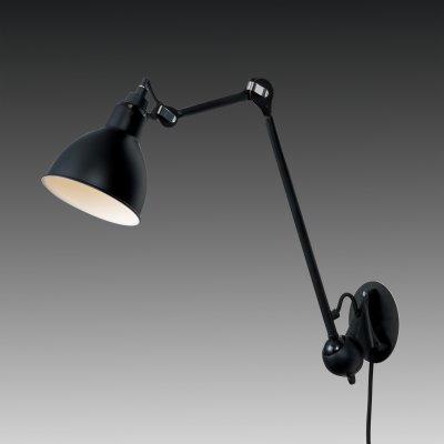 Lightstar LOFT 765617 Светильник настенный браГибкие<br><br><br>S освещ. до, м2: 2<br>Тип товара: Светильник настенный бра<br>Тип цоколя: E14<br>Количество ламп: 1<br>MAX мощность ламп, Вт: 40<br>Размеры: H min-max487-745 W145 отступ<br>Оттенок (цвет): черный<br>Цвет арматуры: черный