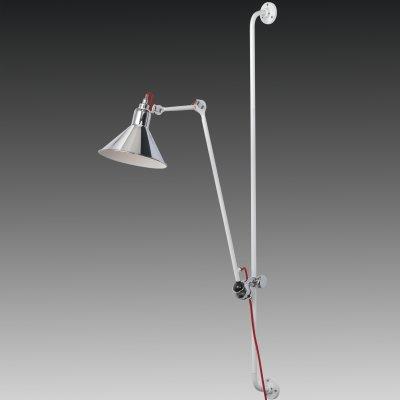 Lightstar LOFT 765624 Светильник настенный браГибкие<br><br><br>S освещ. до, м2: 2<br>Тип цоколя: E14<br>Количество ламп: 1<br>MAX мощность ламп, Вт: 40<br>Размеры: Выступ 317-1067 D плафона 210 H 1280-2080<br>Оттенок (цвет): серебристый<br>Цвет арматуры: серебристый