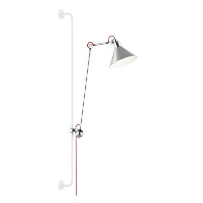 Lightstar LOFT 765624 Светильник настенный браГибкие<br><br><br>S освещ. до, м2: 2<br>Тип лампы: Накаливания / энергосбережения / светодиодная<br>Тип цоколя: E14<br>Количество ламп: 1<br>MAX мощность ламп, Вт: 40<br>Размеры: Выступ 317-1067 D плафона 210 H 1280-2080<br>Оттенок (цвет): серебристый<br>Цвет арматуры: серебристый