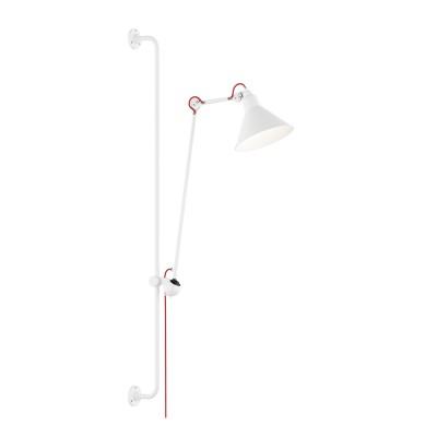 Lightstar LOFT 765626 Светильник настенный браГибкие<br><br><br>S освещ. до, м2: 2<br>Тип лампы: Накаливания / энергосбережения / светодиодная<br>Тип цоколя: E14<br>Количество ламп: 1<br>MAX мощность ламп, Вт: 40<br>Размеры: Выступ 317-1067 D плафона 210 H 1280-2080<br>Оттенок (цвет): белый<br>Цвет арматуры: белый