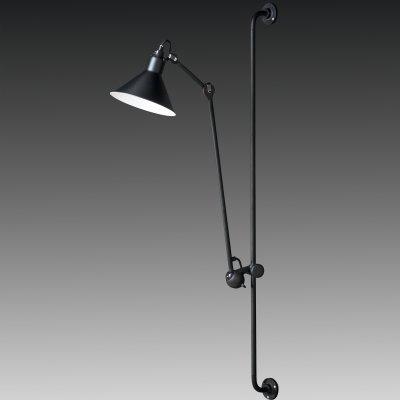 Lightstar LOFT 765627 Светильник настенный браНа штанге<br><br><br>S освещ. до, м2: 2<br>Тип лампы: накаливания / энергосбережения / LED-светодиодная<br>Тип цоколя: E14<br>Количество ламп: 1<br>MAX мощность ламп, Вт: 40<br>Размеры: H min-max1280-2080 W210 отступ<br>Расстояние от стены, мм: max 1067<br>Высота, мм: 1284<br>Оттенок (цвет): черный<br>Цвет арматуры: черный