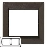 Legrand Valena Модерн Рамка 2-ая гориз 770002Цветные<br><br><br>Оттенок (цвет): коричневый