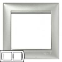Legrand Valena Рамка 2-ая алюминий 770152Серебро (Alum)<br><br><br>Оттенок (цвет): серебристый