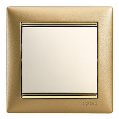 Legrand Valena Матовое золото Рамка 1-ая 770301Цветные<br><br><br>Оттенок (цвет): золотой