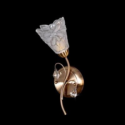 Светильник Евросвет 7714/1 античная бронзаФлористика<br><br><br>S освещ. до, м2: 4<br>Тип лампы: накаливания / энергосбережения / LED-светодиодная<br>Тип цоколя: E14<br>Цвет арматуры: бронзовый<br>Количество ламп: 1<br>Ширина, мм: 120<br>Высота, мм: 250<br>MAX мощность ламп, Вт: 60