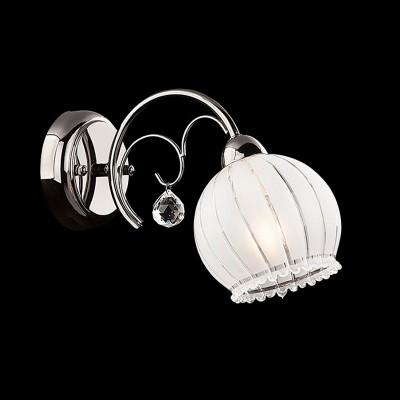 Светильник Евросвет 7725/1 черный жемчугМодерн<br><br><br>S освещ. до, м2: 4<br>Тип товара: Светильник настенный бра<br>Скидка, %: 16<br>Тип лампы: накаливания / энергосбережения / LED-светодиодная<br>Тип цоколя: E14<br>Количество ламп: 1<br>Ширина, мм: 130<br>MAX мощность ламп, Вт: 60<br>Расстояние от стены, мм: 300<br>Высота, мм: 200<br>Цвет арматуры: серебристый