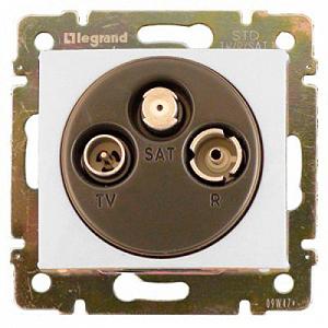 Legrand Valena Белый Розетка TV-RD-SAT оконечная 5-2400 МГц 10 дБ 774436Белый  <br><br><br>Оттенок (цвет): белый