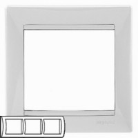 Legrand Valena Белый Рамка 3-ая гориз 774453Белый  <br><br><br>Оттенок (цвет): белый