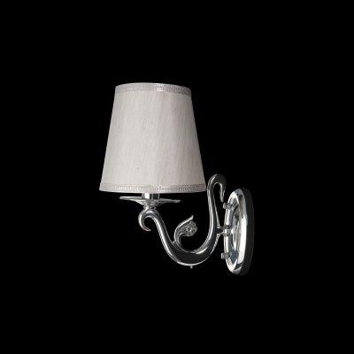 Lightstar ENGENUO 779514 Светильник настенный браКлассические<br><br><br>S освещ. до, м2: 2<br>Крепление: настенное<br>Тип лампы: накаливания / энергосбережения / LED-светодиодная<br>Тип цоколя: E14<br>Количество ламп: 1<br>Ширина, мм: 170<br>MAX мощность ламп, Вт: 40<br>Размеры: H 300 W 250x170<br>Высота, мм: 300<br>Оттенок (цвет): белый<br>Цвет арматуры: серебристый