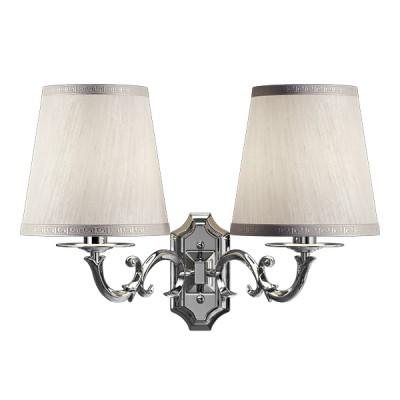 Lightstar ENGENUO 779524 Светильник настенный браКлассические<br><br><br>S освещ. до, м2: 6<br>Крепление: настенное<br>Тип лампы: накаливания / энергосбережения / LED-светодиодная<br>Тип цоколя: E14<br>Цвет арматуры: серебристый<br>Количество ламп: 2<br>Ширина, мм: 380<br>Размеры: W 400 H 280 L 180<br>Высота, мм: 310<br>Оттенок (цвет): белый<br>MAX мощность ламп, Вт: 40