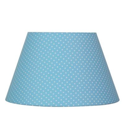 Абажур Lamplandia 7797-2 BLUE WITH WHITE DOTSАбажуры<br>Вид светильника: Абажур <br>Размер: 15*25 x 15*25 x 15<br>Мощность: 1*E14/E27*40W<br>Материал: Металл, Ткань<br><br>Крепление: Абажур<br>Тип цоколя: E14/E27<br>Количество ламп: 1<br>MAX мощность ламп, Вт: 40