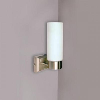 Светильник бра Globo 7815 SpaceСовременные<br><br><br>S освещ. до, м2: 2<br>Тип лампы: накаливания / энергосбережения / LED-светодиодная<br>Тип цоколя: E14<br>Цвет арматуры: серебристый<br>Количество ламп: 1<br>Ширина, мм: 115<br>Длина, мм: 80<br>Высота, мм: 185<br>MAX мощность ламп, Вт: 40