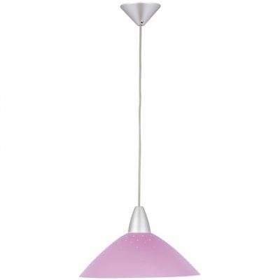 Светильник Brilliant 78270/17 LogoОдиночные<br><br><br>S освещ. до, м2: 6<br>Тип товара: Светильник подвесной<br>Тип лампы: накаливания / энергосбережения / LED-светодиодная<br>Тип цоколя: E27<br>Количество ламп: 1<br>MAX мощность ламп, Вт: 100<br>Диаметр, мм мм: 350<br>Цвет арматуры: серебристый