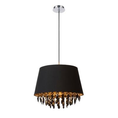 Светильник Lucide 78368/45/30Подвесные<br><br><br>Установка на натяжной потолок: Да<br>S освещ. до, м2: 3<br>Тип лампы: Накаливания / энергосбережения / светодиодная<br>Тип цоколя: E27<br>Цвет арматуры: серебристый хром<br>Количество ламп: 1<br>Диаметр, мм мм: 450<br>Высота, мм: 1630<br>MAX мощность ламп, Вт: 60