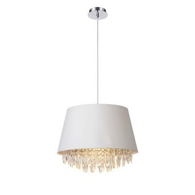 Светильник Lucide 78368/45/31Подвесные<br><br><br>Установка на натяжной потолок: Да<br>S освещ. до, м2: 3<br>Тип лампы: Накаливания / энергосбережения / светодиодная<br>Тип цоколя: E27<br>Цвет арматуры: серебристый хром<br>Количество ламп: 1<br>Диаметр, мм мм: 450<br>Высота, мм: 1630<br>MAX мощность ламп, Вт: 60