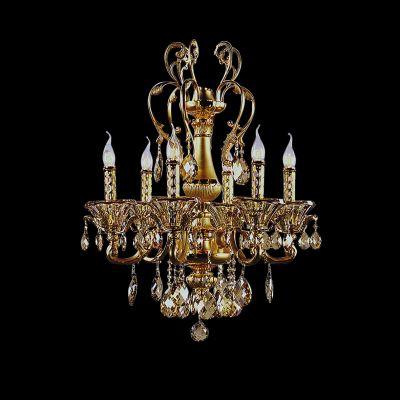 Люстра Lightstar 786082 AMPOLLOподвесные хрустальные люстры<br>Люстра Ampollo напоминает фонтаны Петергофа. Матовое золотое покрытие надежно защищает металл от коррозии и придает дороговизну внешнему виду светильника. Хрустальные чаши, словно цветы, которые распустились у основания ламп-свечей. Каждый хрусталик прошел через ручную огранку и тщательный отбор на наличие брака и трещин. На люстру попали лишь самые лучшие. Блеск от них будет ярче освещения, которое подарит эта волшебная люстра.<br><br>Установка на натяжной потолок: Да<br>S освещ. до, м2: 32<br>Крепление: Крюк<br>Тип лампы: накаливания / энергосбережения / LED-светодиодная<br>Тип цоколя: E14<br>Цвет арматуры: золотой<br>Количество ламп: 8<br>Диаметр, мм мм: 710<br>Размеры: D 710 H 720<br>Высота, мм: 720<br>Оттенок (цвет): золотой, прозрачный<br>MAX мощность ламп, Вт: 60
