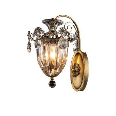 Lightstar SCHON 790611 Светильник настенный браКлассические<br><br><br>S освещ. до, м2: 4<br>Тип лампы: Накаливания / энергосбережения / светодиодная<br>Тип цоколя: E14<br>Цвет арматуры: бронзовый<br>Количество ламп: 1<br>Размеры: H320 W210, отступ 260<br>MAX мощность ламп, Вт: 60