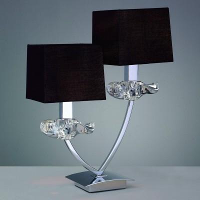 Светильник Mantra 790 AKIRAСовременные<br>Настольная лампа – это не просто источник дополнительного освещения, но и оригинальный элемент декора. Его можно установить в спальне, гостиной, кабинете и других комнатах. Интернет-магазин «Светодом» предлагает настольные лампы разных стилей по доступным ценам. Благодаря большому ассортименту Вы обязательно найдете в нашем каталоге именно ту модель, которую искали.   Настольная лампа Mantra 790 – прекрасный вариант для завершения интерьера. Ее можно включить одновременно с люстрой для более яркого освещения или без нее для создания уютной атмосферы, настраивающей на отдых.   Купить настольную лампу Mantra 790 Вы можете с помощью виртуальной «Корзины» или по контактным номерам, указанным на сайте.<br><br>S освещ. до, м2: 8<br>Тип лампы: накаливания / энергосбережения / LED-светодиодная<br>Тип цоколя: E14<br>Цвет арматуры: серебристый хром<br>Количество ламп: 2<br>Ширина, мм: 140<br>Размеры: D 190 H 420<br>Длина, мм: 310<br>Высота, мм: 395<br>MAX мощность ламп, Вт: 60
