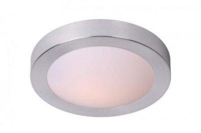 светильники для ванной Lucide 79158/01/12 FRESHДля ванной<br><br><br>S освещ. до, м2: 1<br>Тип лампы: накаливания / энергосбережения / LED-светодиодная<br>Тип цоколя: E27<br>Цвет арматуры: серебристый<br>Количество ламп: 1<br>Диаметр, мм мм: 270<br>Высота, мм: 80<br>Оттенок (цвет): белый<br>MAX мощность ламп, Вт: 20